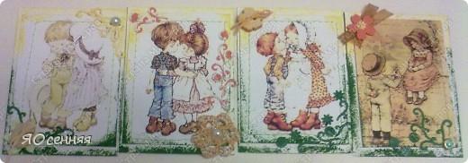 """Новая серия подарочек к 8 марта называется - """"Весна"""" в работе использованы иллюстрации Сары Кей  (качество фото к сожалению не очень) фото 3"""