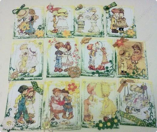 """Новая серия подарочек к 8 марта называется - """"Весна"""" в работе использованы иллюстрации Сары Кей  (качество фото к сожалению не очень) фото 1"""