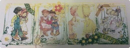 """Новая серия подарочек к 8 марта называется - """"Весна"""" в работе использованы иллюстрации Сары Кей  (качество фото к сожалению не очень) фото 4"""