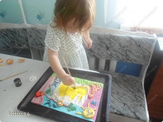 Дочке на 2ой день рожения решила к подаркам сделать вот такую памятную вещицу.дальше немного опишу как делала ,может кому то пригодится... фото 10