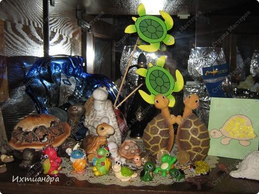 Я коллекционирую черепашек и захотелось сделать такую.... такую.... Ну чтобы ни у кого такой не было! :-)) И вот, представляю Вам черепашку Дуняшу - в стиле дымковской игрушки. Получилась нарядная, румяная и с косичкой - настоящая русская красавица! )) фото 12
