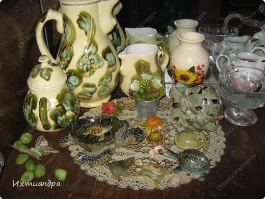 Я коллекционирую черепашек и захотелось сделать такую.... такую.... Ну чтобы ни у кого такой не было! :-)) И вот, представляю Вам черепашку Дуняшу - в стиле дымковской игрушки. Получилась нарядная, румяная и с косичкой - настоящая русская красавица! )) фото 13