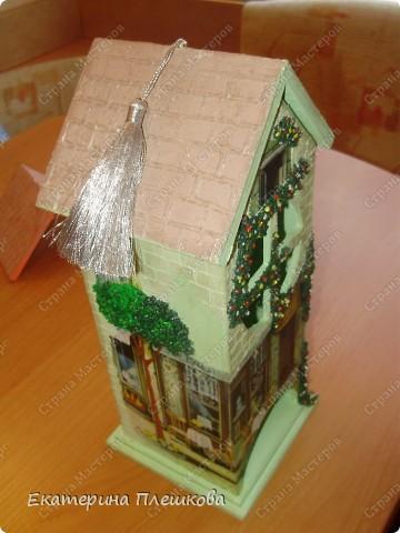 Вот такой домик для чая я сделала в подарок. Предлагаю Вам тоже попробовать сделать. Чудный подарок.  фото 41