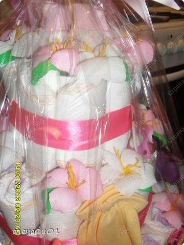 Вот такие торты из памперсов заказали на рождение мальчика... фото 2
