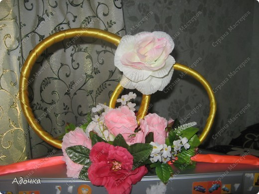 Очень давно делала эти кольца, 7 лет назад) Решила поделиться своей работой с вами! Немного смялись цветы. фото 1