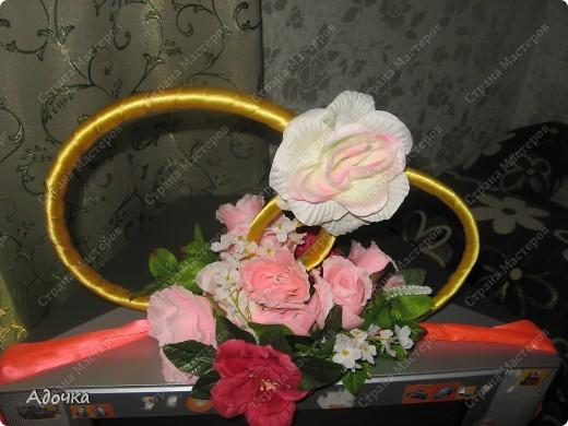 Очень давно делала эти кольца, 7 лет назад) Решила поделиться своей работой с вами! Немного смялись цветы. фото 2
