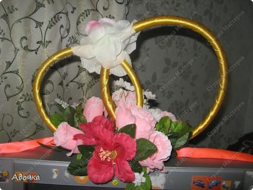 Очень давно делала эти кольца, 7 лет назад) Решила поделиться своей работой с вами! Немного смялись цветы. фото 3