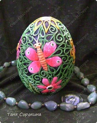 И снова яйца! Мы  со старшей группой моей студии тоже творим пасхальные яйца в пейп-арте. И сегодня я вам покажу некоторые из них. фото 11