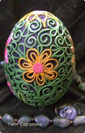 И снова яйца! Мы  со старшей группой моей студии тоже творим пасхальные яйца в пейп-арте. И сегодня я вам покажу некоторые из них. фото 9