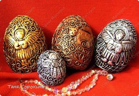 Декор предметов Пасха Бумагопластика А яйца всё не кончаются  Пейп-арт имитация металла Салфетки фото 1