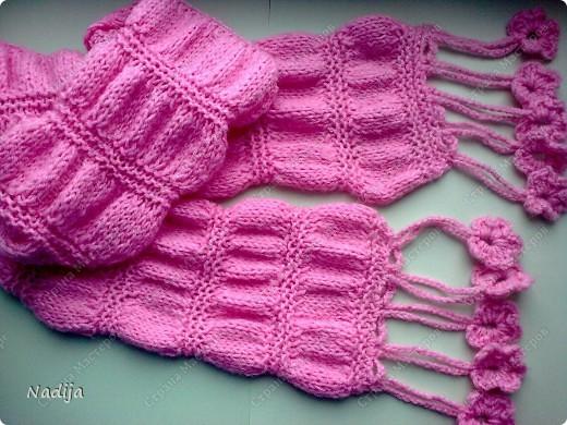 Детское вязание спицами шарфы