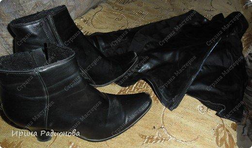 Ботинки из сапог своими руками 1106
