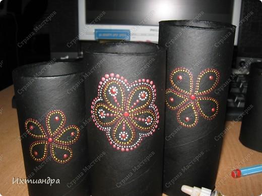 Декор предметов Роспись Чудо-органайзер Дерево Картон Клей Краска Материал бросовый фото 5
