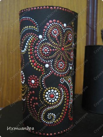 Декор предметов Роспись Чудо-органайзер Дерево Картон Клей Краска Материал бросовый фото 6