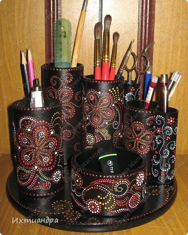 Декор предметов Роспись Чудо-органайзер Дерево Картон Клей Краска Материал бросовый фото 15