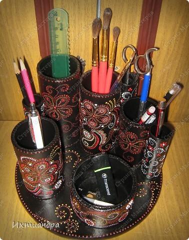 Декор предметов Роспись Чудо-органайзер Дерево Картон Клей Краска Материал бросовый фото 16