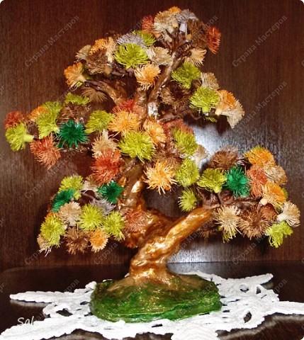 "Вот такое деревце я сделал по заданию блога  ""Хомячок Challenge"".  Вид спереди фото 1"