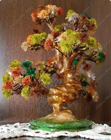 "Вот такое деревце я сделал по заданию блога  ""Хомячок Challenge"".  Вид спереди фото 2"