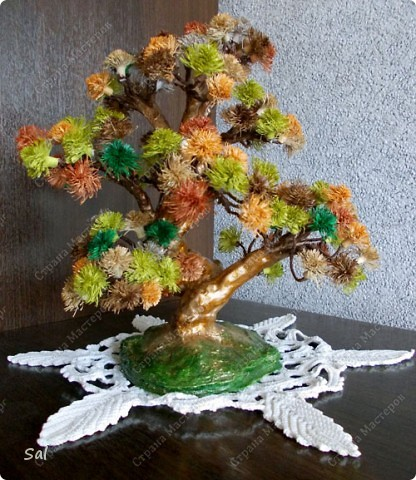 "Вот такое деревце я сделал по заданию блога  ""Хомячок Challenge"".  Вид спереди фото 5"