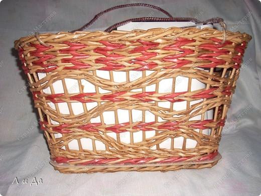 Плетение из газетных трубочек ажурных корзин