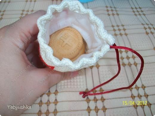 Мешочки для просфор сшиты из канвы и ткани, вышиты крестиком и лентами. фото 8