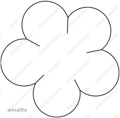 Аппликация из цветной бумаги цветок шаблон