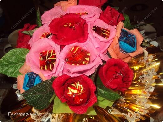 Букет делала на 8 марта для любимой свекрови! Цветы были сделаны заранее... на всякий случай! А собирала я его уже ночью!!!! фото 3