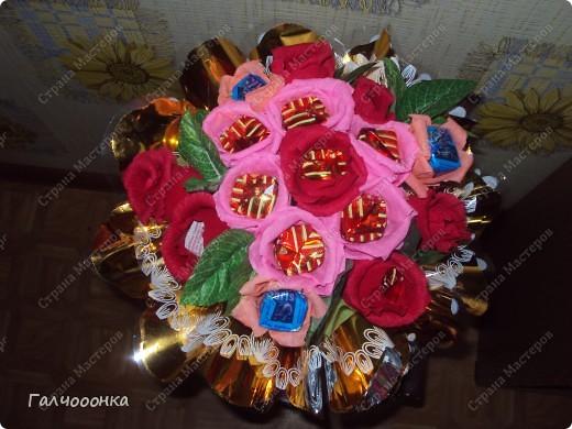 Букет делала на 8 марта для любимой свекрови! Цветы были сделаны заранее... на всякий случай! А собирала я его уже ночью!!!! фото 4