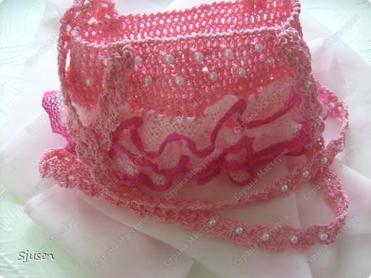 """Вот такое """"розовое счастье"""" связалось в комплект к дочкиному платью на выпускной)) фото 9"""