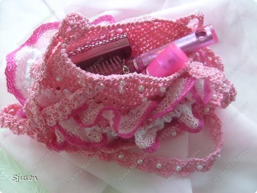 """Вот такое """"розовое счастье"""" связалось в комплект к дочкиному платью на выпускной)) фото 2"""