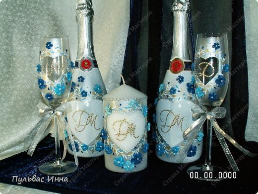Сделали мне заказ сделать вот такой мини-набор в сине-голубых тонах.... Заказчица еще не видела, а я спрашиваю ваше мнение))) фото 2