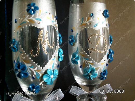 Сделали мне заказ сделать вот такой мини-набор в сине-голубых тонах.... Заказчица еще не видела, а я спрашиваю ваше мнение))) фото 6