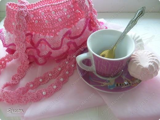 """Вот такое """"розовое счастье"""" связалось в комплект к дочкиному платью на выпускной)) фото 3"""