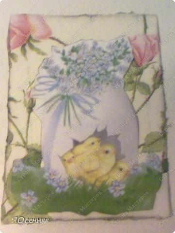 """и вот мой отчет по АТС-игре """"Светлая пасха"""" проводимой ман.юн.я http://stranamasterov.ru/node/341820?c=favorite_b Вот такая пасхальная карточка получилась у меня фото 3"""