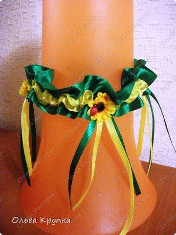 Вот такую подвязку я сшила себе на свадьбу.  фото 1