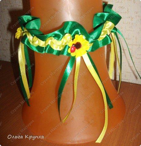 Вот такую подвязку я сшила себе на свадьбу.  фото 10