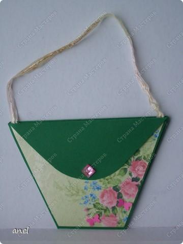 Сегодня выдалась возможность побаловаться изготовлением моих любимых открыточек,сумочек,платьешек,надеюсь вам понравятся. фото 10