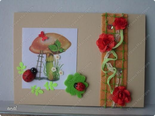 Сегодня выдалась возможность побаловаться изготовлением моих любимых открыточек,сумочек,платьешек,надеюсь вам понравятся. фото 1