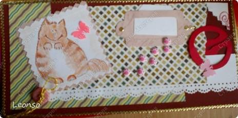 Этого кота я встретила на просторах интернета Когда стала делать новую открытку кот всплыл в памяти Пришлось его нарисовать Открыточку можно использовать как поздравительную или в другом качестве Надо написать все что необходимо в маленьком окошечке
