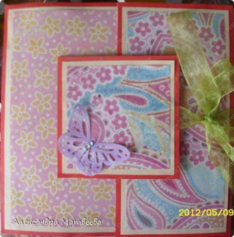 """Во такая """"родилась"""" открыточка, благодаря идее Анны Демаковой, за что ей отдельное спасибо! фото 1"""