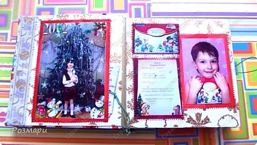 Сделала сыну альбом с фотографиями новогоднего утренника в садике фото 6
