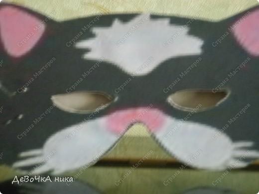 на Новый Год, на представление меня подруга попросила, что б я ей сделала 2 маски котов... вот 1 фото 2