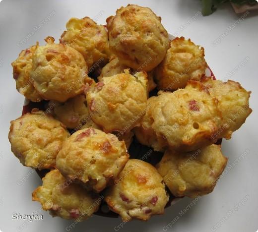 Маффины с сыром и ветчиной фото 1