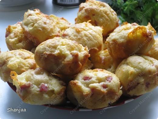 Маффины с сыром и ветчиной фото 2