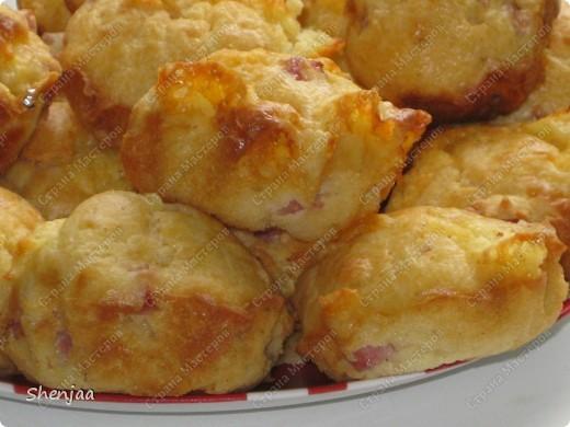 Маффины с сыром и ветчиной фото 3