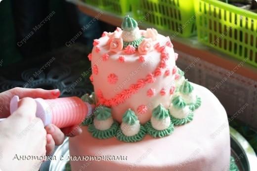 Сделала на очередной день рождения дочери очередной тортик :) Ничего особенного, на самом деле.   фото 10