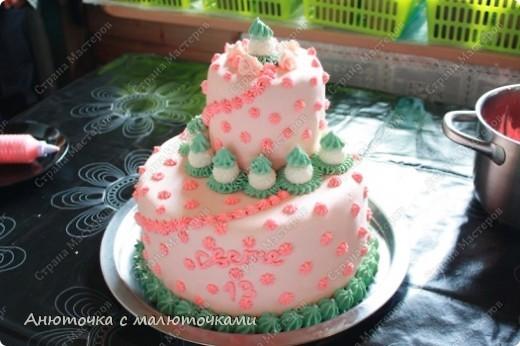 Сделала на очередной день рождения дочери очередной тортик :) Ничего особенного, на самом деле.   фото 11