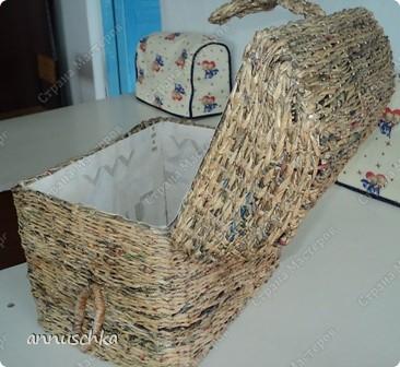Мои плетенки сундук, ваза фото 2
