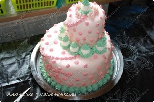 Сделала на очередной день рождения дочери очередной тортик :) Ничего особенного, на самом деле.   фото 14
