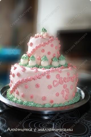 Сделала на очередной день рождения дочери очередной тортик :) Ничего особенного, на самом деле.   фото 1